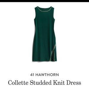 41 Hawthorn Collette Studded Dress Green Sheath XL